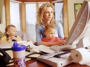 woman-working-at-home-with-kids